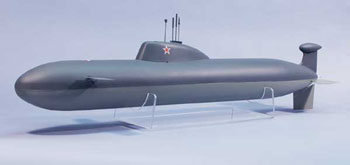 SUBMARINO RC ELÉTRICO RUSSO AKULA NUCLEAR COMP.: 838mm
