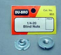 PORCA AUTO CRAVANTE BLIND NUTS 1/4-20 6,35mm PCTE. C/4