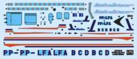 DECAL LINHAS AÉREAS BRASILEIRAS Lóide Aéreo DC-6 ESC.: 1/144