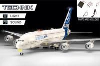 AVIÃO COMERCIAL AIRBUS A380-800 COM LUZ E SOM - TECHNIK ESC.: 1/144