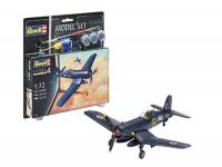 AVIÃO F4U-1B CORSAIR MODEL SET ESC.: 1/72