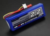 BATERIA RECARREGAVEL LIPO 3S 11,1V 2200Mah 1,5C PLUG FUT P/RADIO TurnigY 9XR